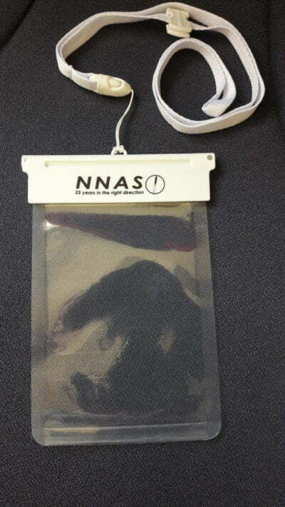 NNAS 25th anniversary waterproof phone pouch e1572353001392